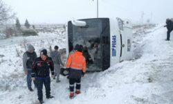 В Турции опрокинулся автобус с российскими туристами