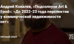 Андрей Ковалев, «Подсолнухи Art & Food»: «До 2022-23 года перспектив у коммерческой недвижимости нет» — Личный опыт на vc.ru - vc.ru