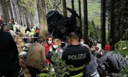 Падение кабины фуникулера в Италии: погибло 13 человек