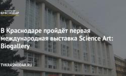 В Краснодаре пройдёт первая международная выставка Science Art: Biogallery - Телеканал «Краснодар»